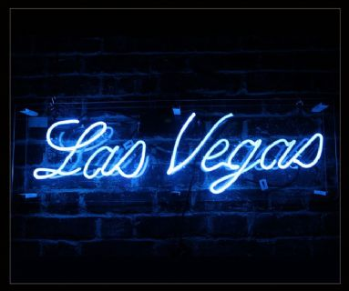 Las Vegas Blue Neon Sign